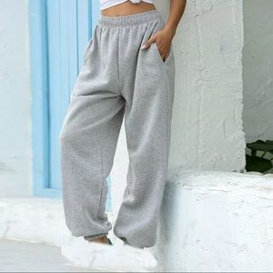 NEW! Gray jogging pants elastic waist Loose fit